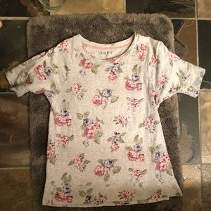 Loft Medium 100% cotton floral top